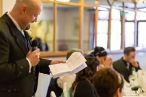 Wedding speech at the Woodlands Hotel, Dundee