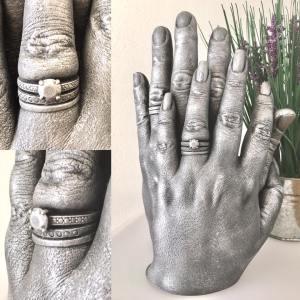 Lifecast of hands
