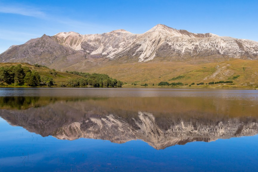 Beinn Eighe reflecting on Loch Clair