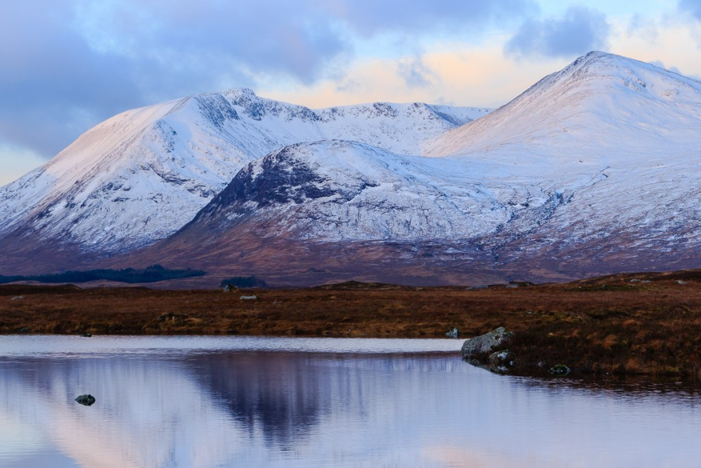 The Black Mount, Glen Coe in winter