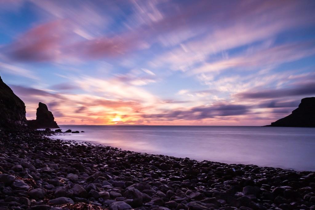 Talisker Bay, Skye at sunset