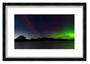 Fine art framed print of Northern Lights over Monikie