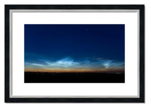 Fine art framed print of Noctilucent Clouds over Angus