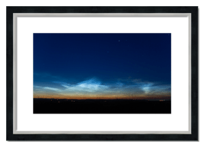 Fine art framed print of Noctilucent Clouds over Angus