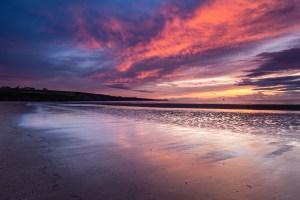 Sunrise at Lunan Bay Beach
