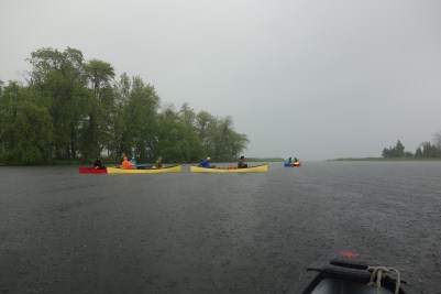 storms from a canoe