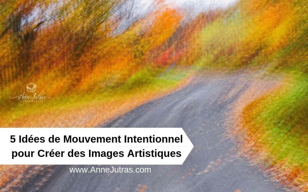 5 Idées de Mouvement Intentionnel pour Créer des Images Artistiques