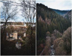 15k met zicht op burcht Reinhardstein, langs stuwdam van Robertville 2