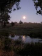 Moonrise over Rawnsley Bluff (Photo copyright: Anne Lawson, 2014)