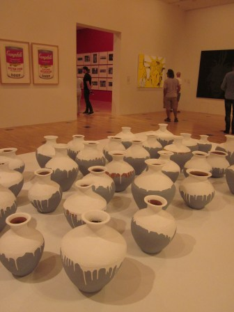Paint coated pots. Ai Weiwei