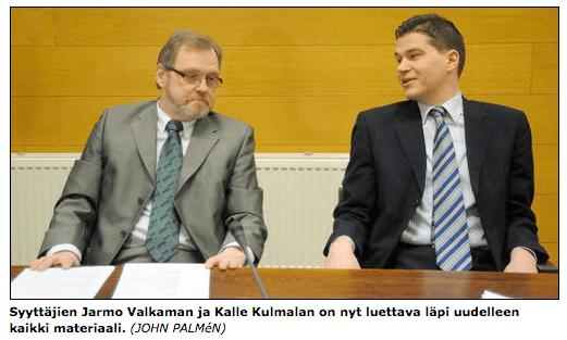 kihlakunnansyyttäjät Jarmo Valkama & Kalle Kulmala rentoina