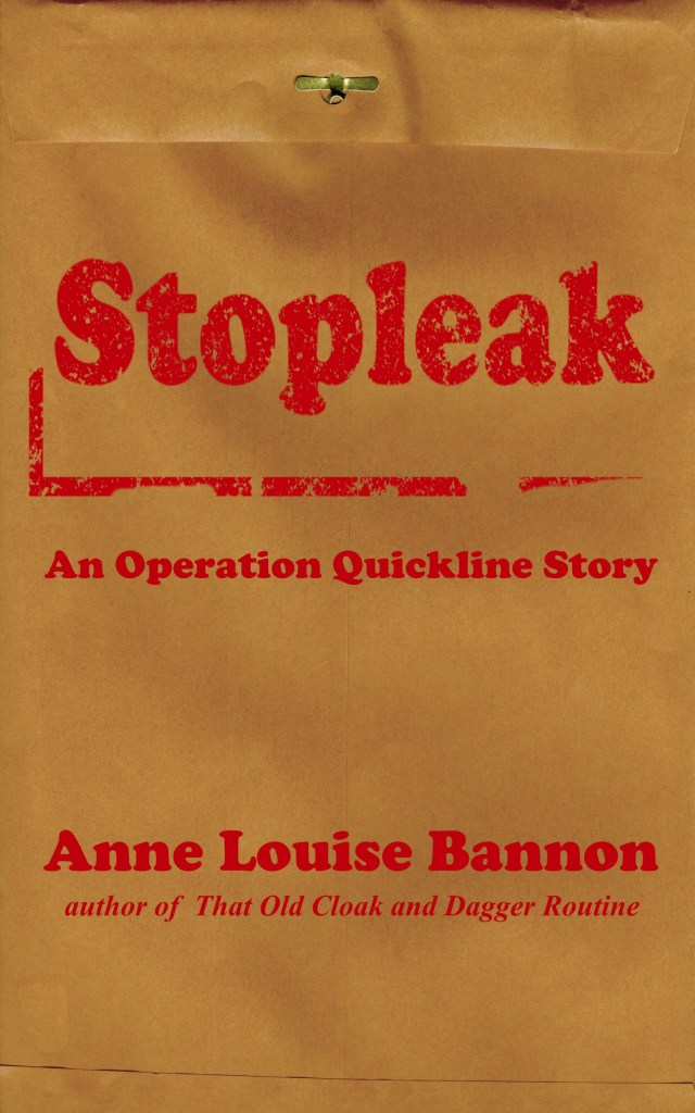 Cover Art for the romantic spy novel Stopleak