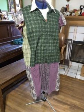repurposing clothes, sewing, waste-free living
