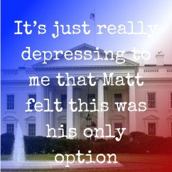 Pull quote for romantic fiction serial White House Rhapsody
