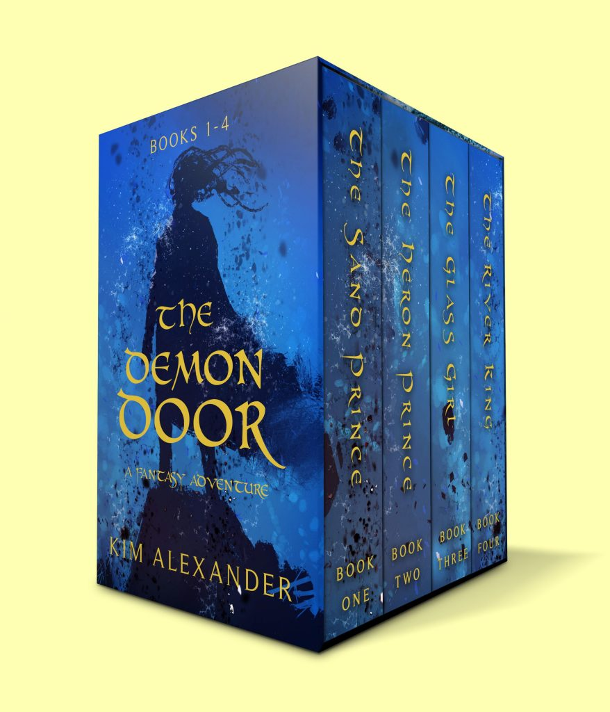 Image of the four book series by Kim Alexander: The Demon Door