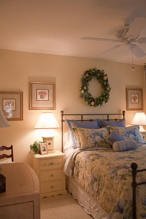 Blue  Yellow Guest Room