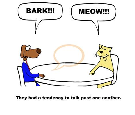 cat and dog negotiate