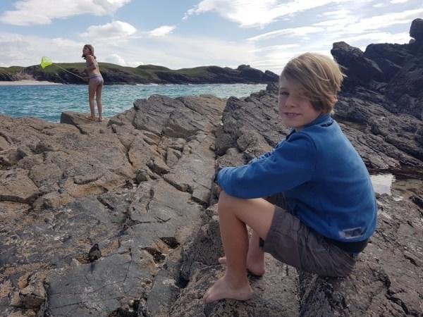 Het strand van stoer in de highlands