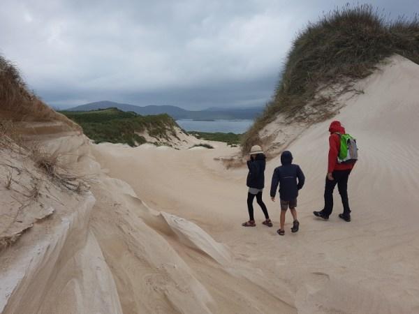 wandelen in de duinen naar  Balnakeil Beach