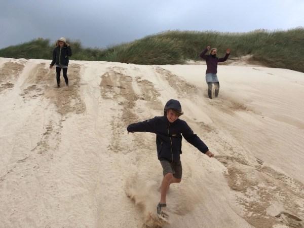 lopen van de duinen aan Balnakeil Beach