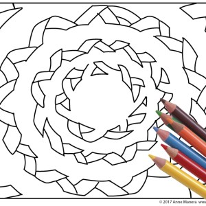 The Color Wheel Printable Coloring Page Hand Drawn