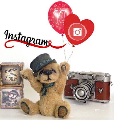 Ours de collection OOAK artist bear teddy instagram