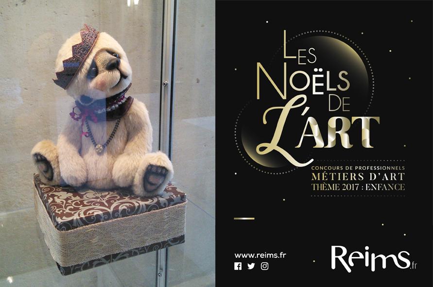 Concours Noels de l art Reims 2017 Dagobear Anne Marie VERRON prix CMA chambre metiers artisanat