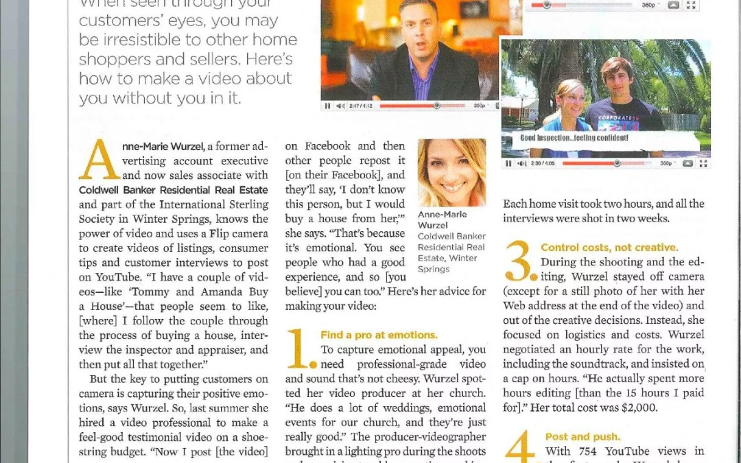 Anne-Marie Wurzel Featured in Florida Realtor Magazine!