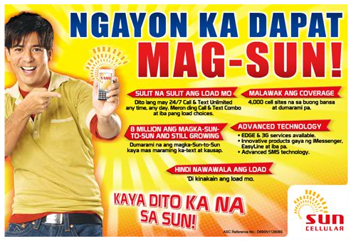 Sun Cellular Prepaid Cellphone Cards and Promos (1/3)