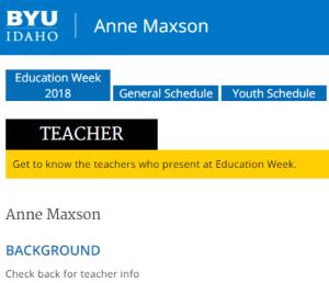 BYUI Education Week 2018