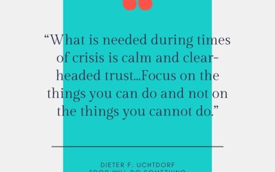 When in Crisis, Keep Calm & Focus on the What You Can Do