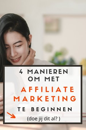 manieren affiliate marketing beginnen