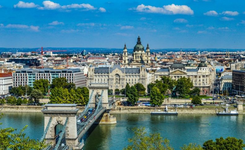 Beautiful Budapest skyline and Danube River
