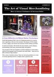 The Art of Visual Merchandising -Newsletter AW15:1