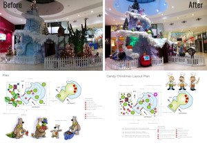 Santa's Grotto Display - Before and After