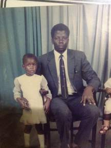 Dad and I. Don't we look like twins?