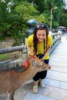 This photo was taken immediately before Jamie kissed this deer... on its deer face!! GROSS, JAMIE?!