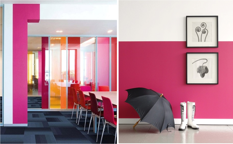 Great examples of Colour Therapy in the Office and at Home.