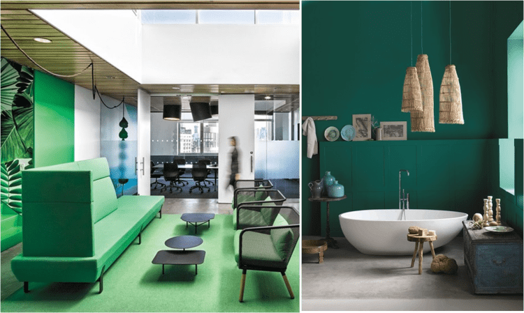 Great Examples of how Colour Therapy can be used to lift spirits and inspire at work and at home
