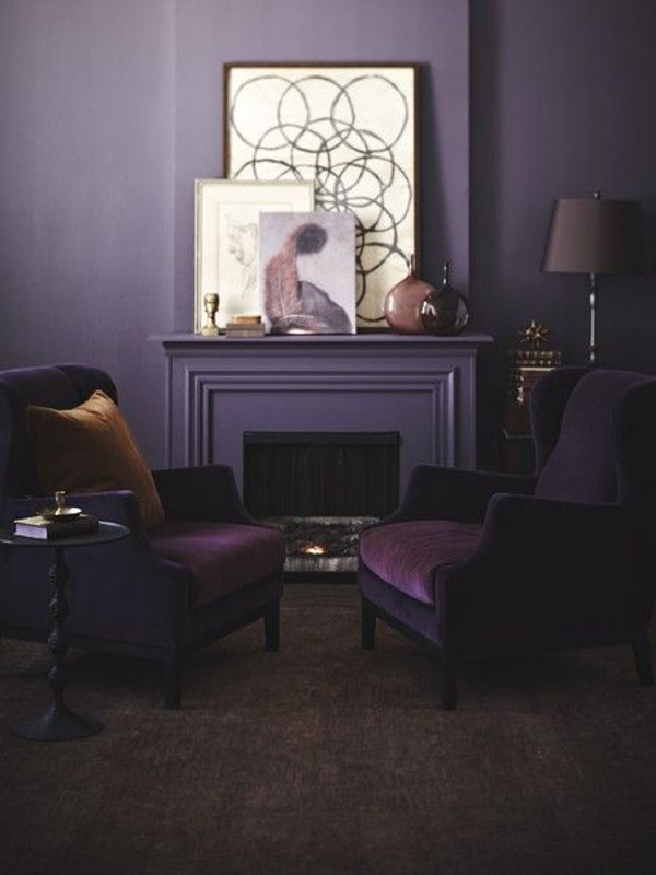 A creative alternative to grey - 10 examples of rich and luxurious Purple walls.
