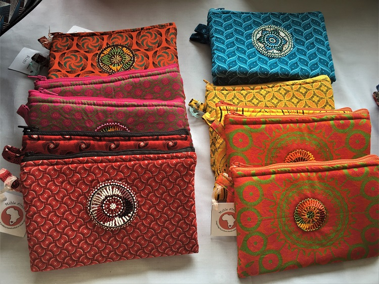 African Style Handcrafted Bages with Zulu Beadwork