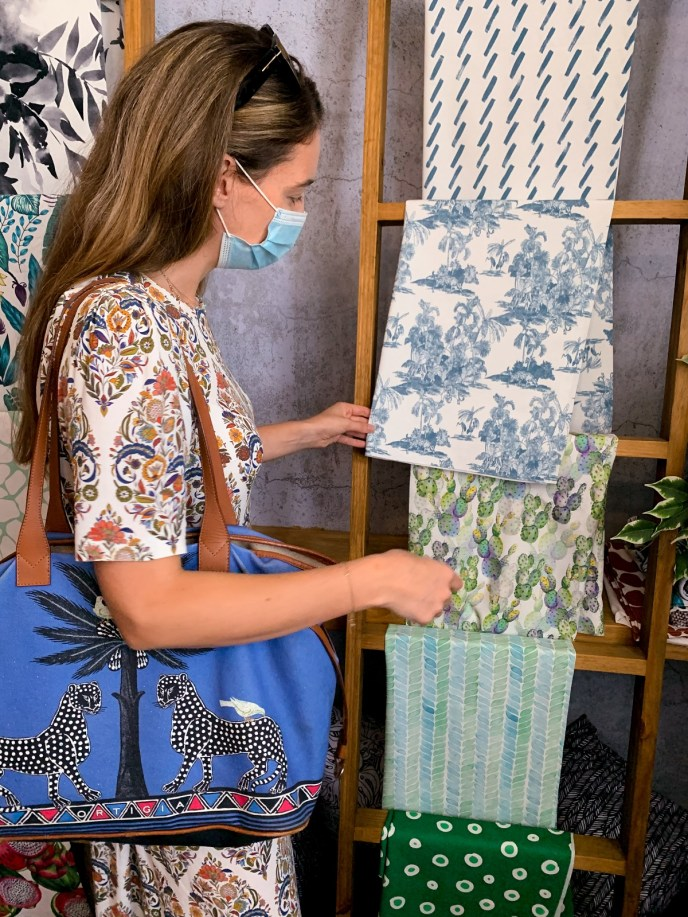 Eco-friendly fabrics. House of Canvex fabrics made from recycled plastic bottles