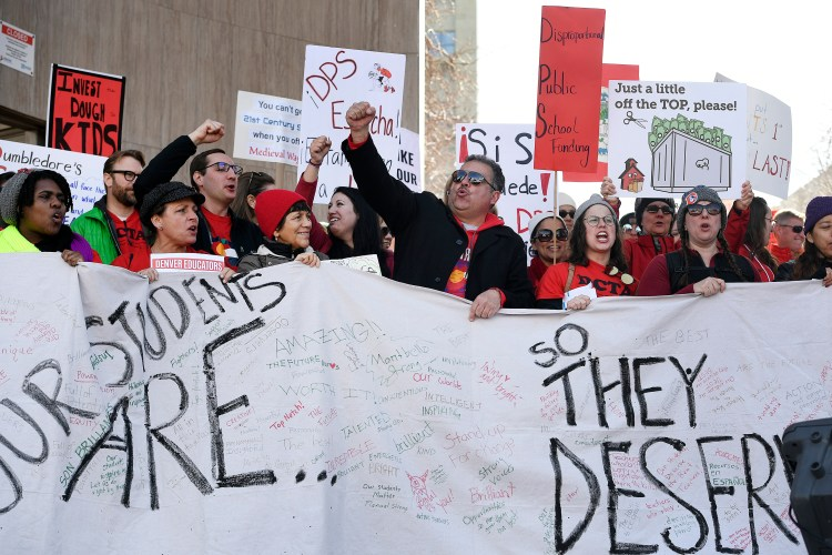 Denver  Teacher  Strike  Ends  With  Offer  Of  Raising  Pay  By  Up  To  11  Percent