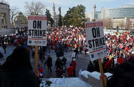 Talks  to  end  three-day  Denver  teachers  strike  resume  after  development  reported
