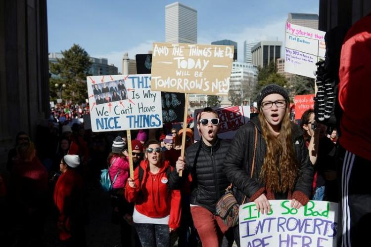 Talks  to  end  three-day  Denver  teachers  strike  resume  after  progress  reported