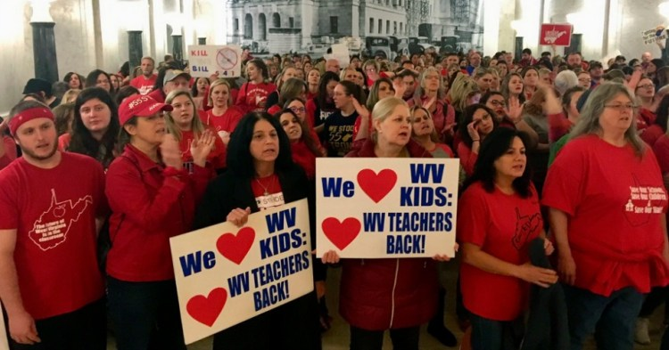 Flooding  State  Capitol,  West  Virginia  Educators  Save  Public  Education  From  Privatization  Scheme