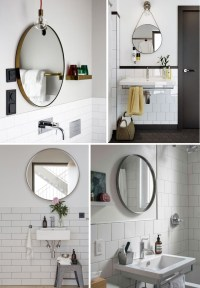 Easy Bathroom Decor Refresh: A Round Bathroom Mirror