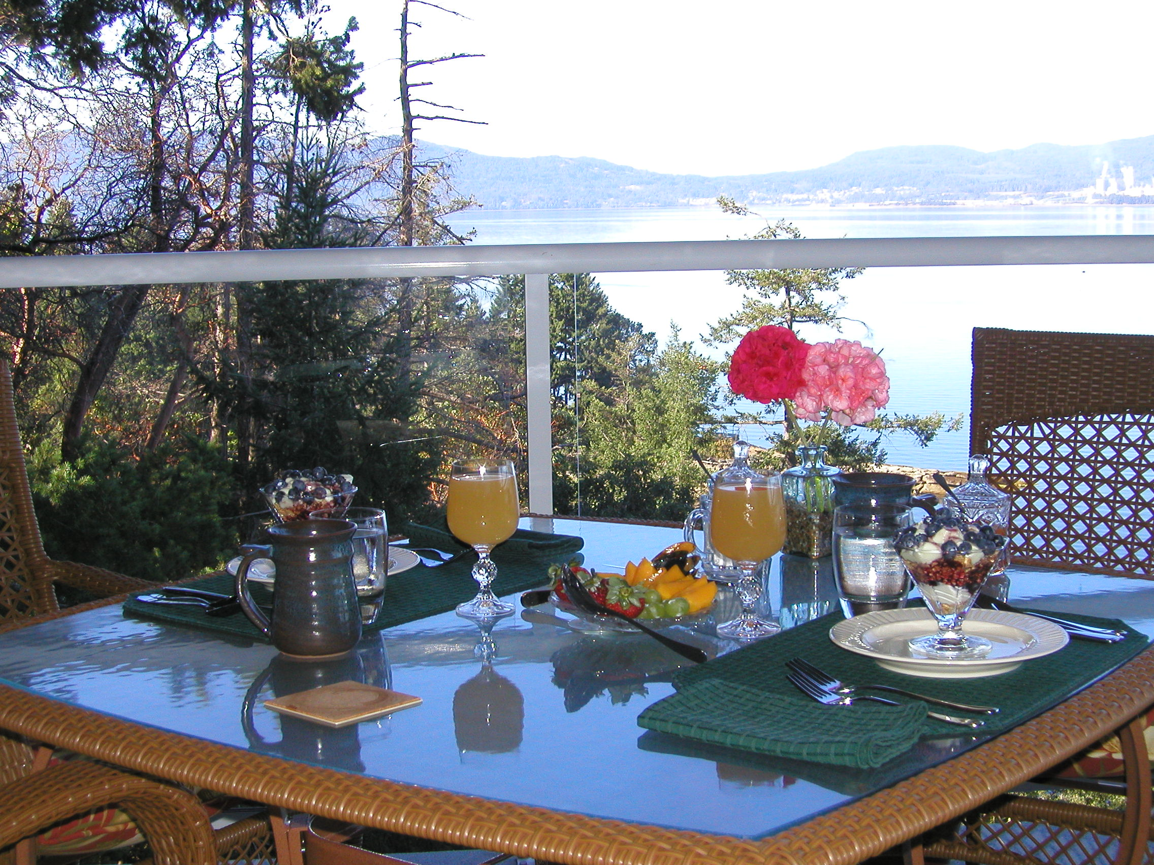 Or, I will enjoy breakfast with Rick on the deck instead of serving our guests breakfast there!