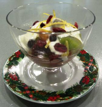 Fresh Fruit Compote with Lemon Cream