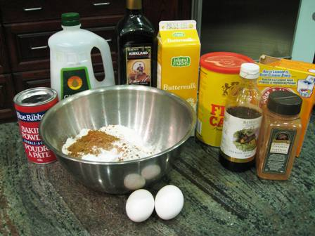 Ingredients for the Chocolate Cheesecake Muffins